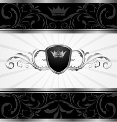 ornate dark decorative frame - vector image vector image