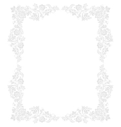 Ornate floral frame in Russian vector image