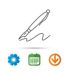 Pen icon writing tool sign vector