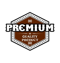 Premium quality product label vector