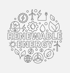 renewable energy round outline vector image