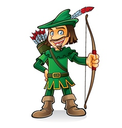 Robin Hood vector image vector image