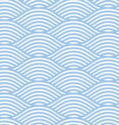 Seamless line wave background pattern vector image vector image