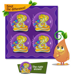 spot the difference snake flute vector image