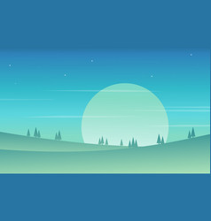 Style hill background game collection vector