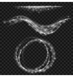 Translucent gray swirl of snowflakes vector