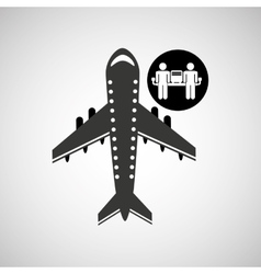 travel flying concept waiting design graphic vector image
