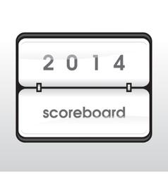 White mechanical scoreboard vector