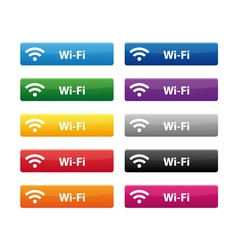 Wi Fi buttons vector image vector image