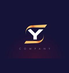 Y letter logo design modern letter template vector