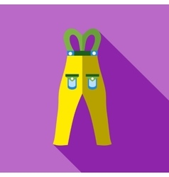 Pants snowboard clothes icon flat style vector