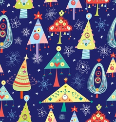 Texture of christmas trees vector