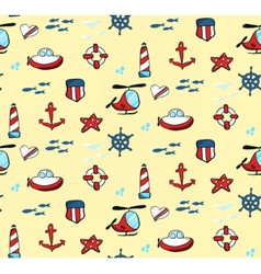 Seapattern vector image