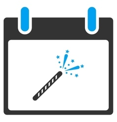 Sparkler firecracker calendar day toolbar vector