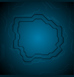 Dark blue technology abstract background with vector