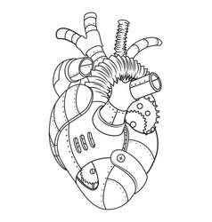 metal heart coloring book vector image