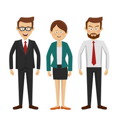group of business people standing vector image