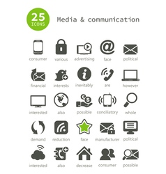 Media and communication2 vector image