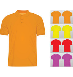 colorful set of classic t shirts vector image