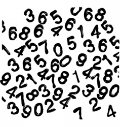 Numbers wallpaper vector