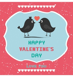 Romantic card40 vector image