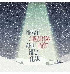 Merry christmas calm scene vector