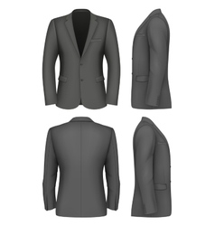 Formal business suits jacket for men vector