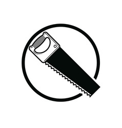 Industrial utensil with sharp teeth simple hacksaw vector