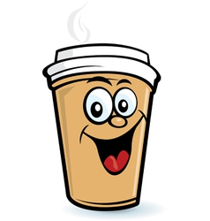 happy coffee character vector image