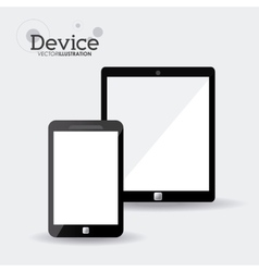 Gadgets and devices designs vector
