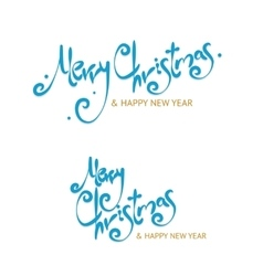 Christmass sign letters set vector