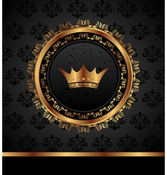 Royal background with golden frame - vector