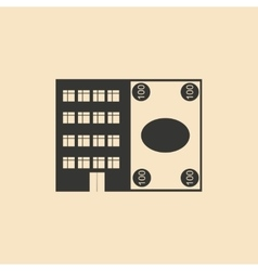 Flat in black white house and currency vector