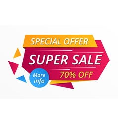 Super sale banner vector