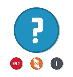 Help design question mark icon flat vector