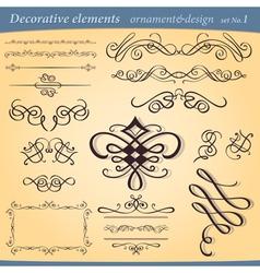 decorative ornament elements vector image