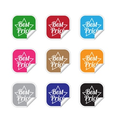 Best price labels vector