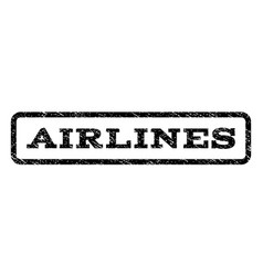 Airlines watermark stamp vector