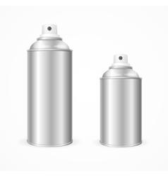 Aluminium spray can template blank vector