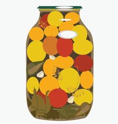 bank of yellow tomatoes vector image vector image