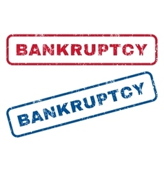 Bankruptcy rubber stamps vector