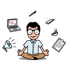 Businessman relaxing design vector