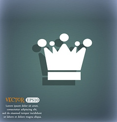 Crown icon sign on the blue-green abstract vector