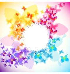 elegant butterfly background vector image