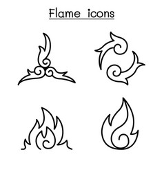 Fire flame burn graphic design vector