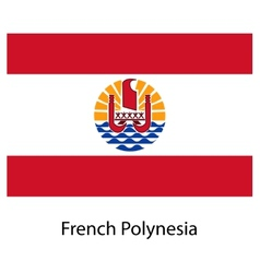 Flag of the country french polynesia vector