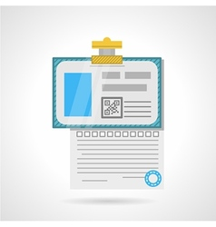 Flat color icon for analysis paper vector image