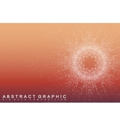 Geometric abstract background with connected lines vector image vector image