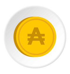 Gold coin with austral sign icon circle vector