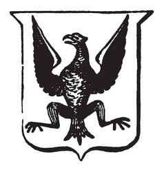 Heraldry displayed have bird with wings spread vector